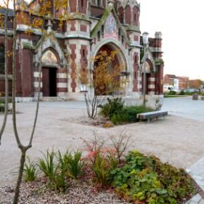 Parvis de l'église et place de la mairie, étude FDAN, Nieppe